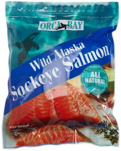 Orca Bay, Alaskan Sockeye Salmon Fillets, Skin On, 2 lb pkg (Frozen)