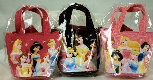 Disney 2009 Set of 3 - Child's Princess Coin Purses - 1 Black / 1 Pink / 1 Dark Pink - Jasmine / Cinderella / Ariel / Belle / + /Very Collectible