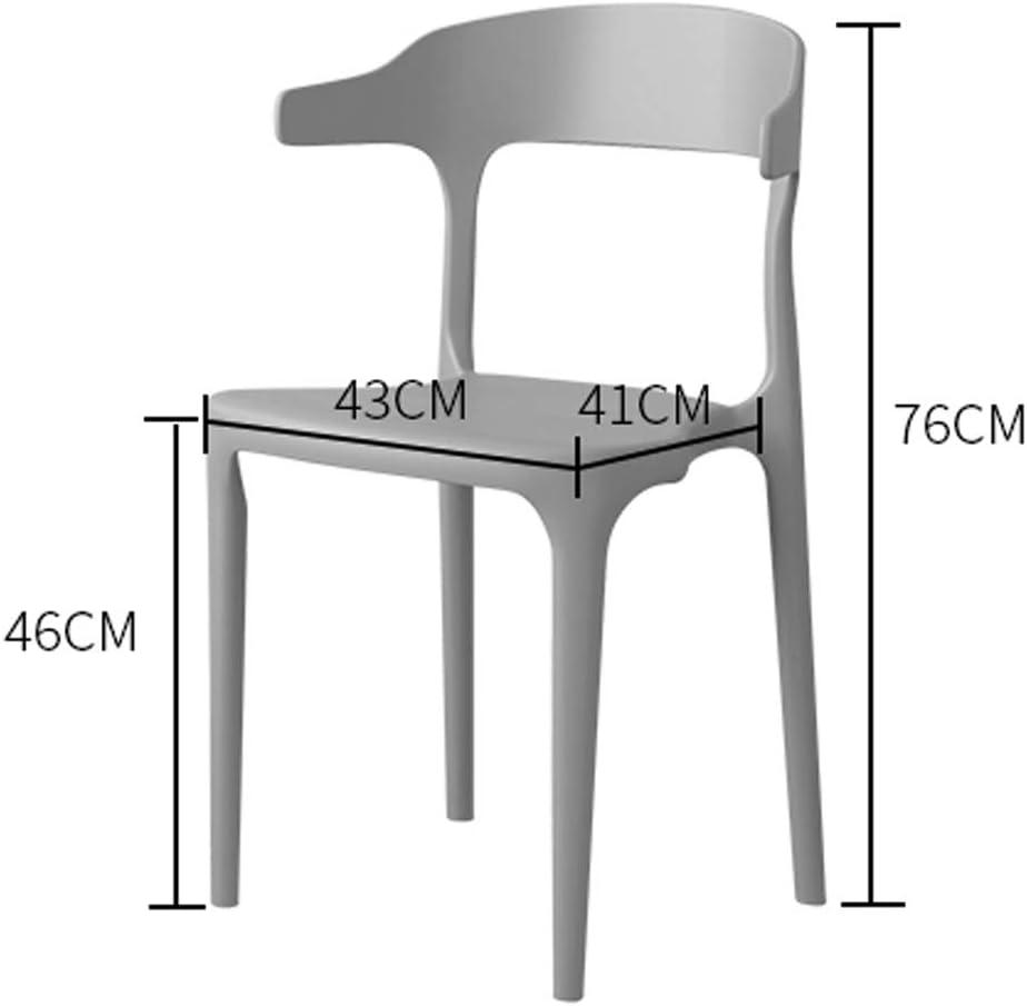 SLL- Chaise de Salle, Chaise de Bureau Simple, créative Dossier, Chaise Loisirs, Maison Adulte Chaise de Salle Moderne (Color : Yellow) Khaki