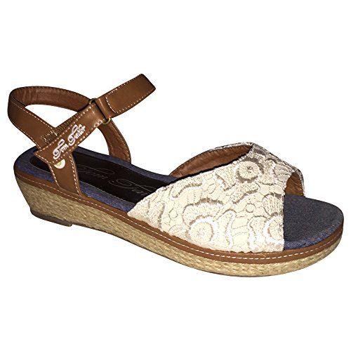 TOM TAILOR Sandale beige Sandalette Keil Wedges beige (36)