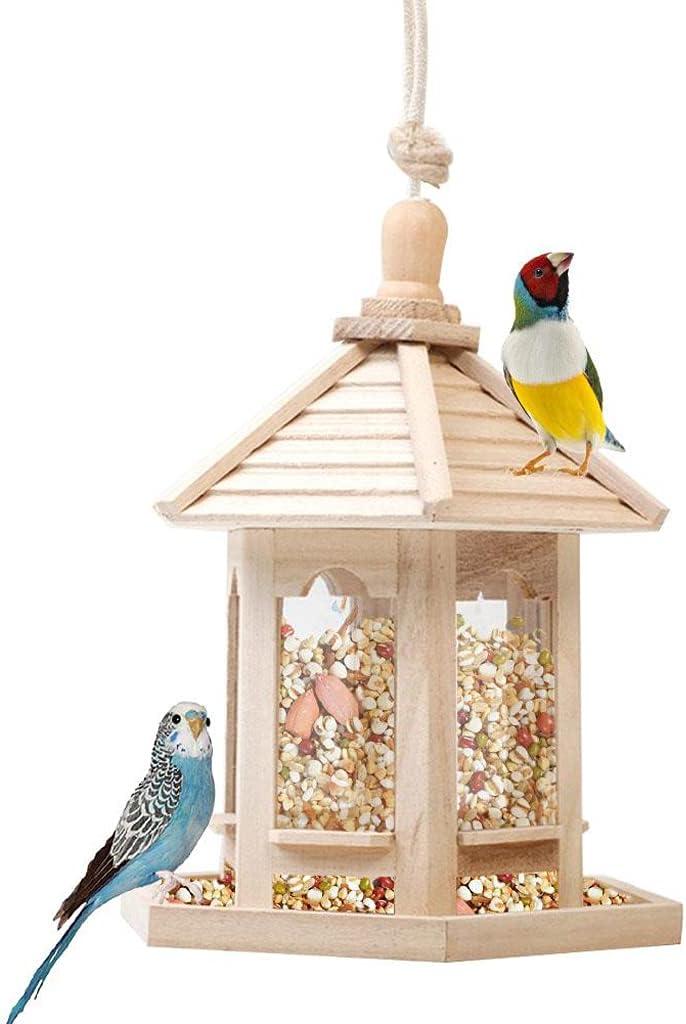 XXJF Outside Wooden Bird Feeder Dr Birdfeeder Wild with Purchase Hanging Super-cheap