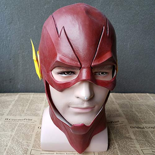 hcoser Halloween Karneval Der blitz Masken Cosplay Flash Helm Latex Rot Full Head Maske für Erwachsene