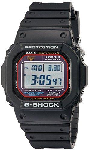 Casio GWM5610-1 Men's G-Shock Black Resin Multi-Band Atomic Digital Alarm Watch