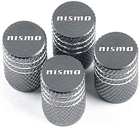 4 Piezas Coche Tapas de Válvula para Nissan Nismo Juke Note Navara Leaf Qashqai, Cubiertas Impermeables de Prueba de Polvo Tapones de Válvula de Neumáticos