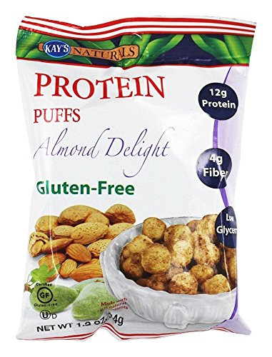 Kay's Naturals Protein Puffs, Almond Delight, Gluten-Free, Low Fat, Diabetes Friendly, All Natural Flavorings, 1.2 Ounce (Pack of 6)