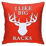 JONINOT Throw Pillow Covers with Pillowinner, I Like Big Racks Algodón...