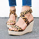 Immagine 1 tomwell sandali donna moda leopardo
