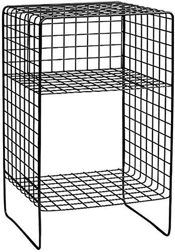 Wghz Librero/Revistero Negro Simple Soporte de Doble Piso Soporte de Almacenamiento Soporte de exhibición Estante Multifuncional A +++