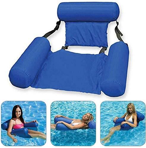 Okssud - Silla flotante para piscina, cama flotante, portátil, plegable, inflable, para piscina, sofá de agua, para natación, lago océano, silla de piscina para adultos