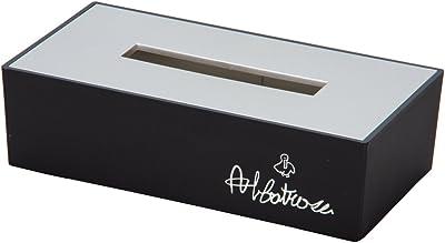 カノー ティッシュケース ブラック/シルバー サイズ:26×13.5×7.5cm
