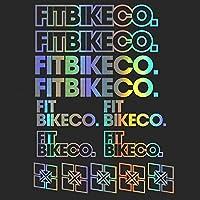 装飾デカールステッカーキットをスタイリングFitbikecoステッカーセットのデカールステッカー自転車フレーム自転車MTB BMXビニールボディ車用 (SILVER)