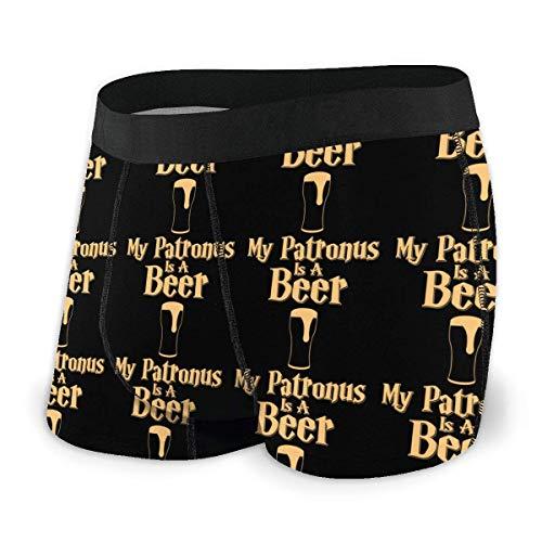 Mein Patronus ist EIN Bier Mens Boxer BriefsAufsitzunterhose Größe L.