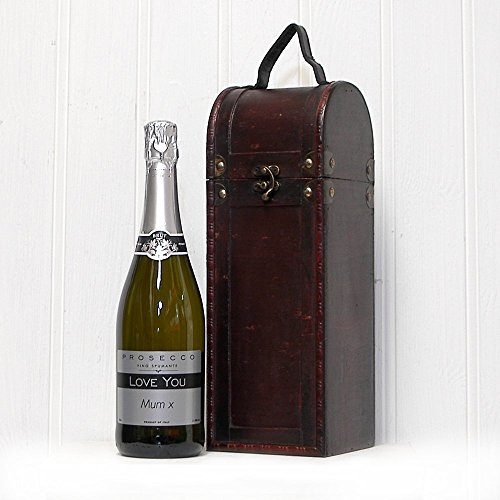 Fine Food Store 'Love You Mum' Prosecco with Antique Style Wooden Gift Box NV 75 cl