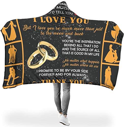 NeiBangM Aan mijn vrouw Aangenaam warm flanel fleece deken vlies