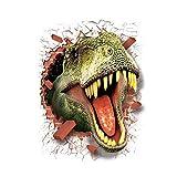 3D Dinosaurier Tapeten Antistatik Wandaufkleber Durch die