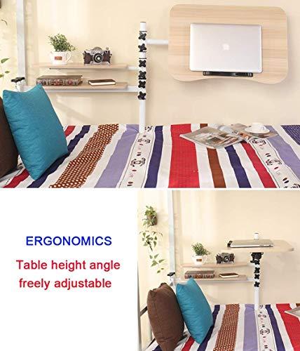FSYGZJ Verstellbarer Laptop-Nachttisch, Tablett-Tisch, tragbarer Stehpult, mit faltbaren Beinen, Faltbarer Sofa-Frühstückstisch, Leseständer für Notebook-Ständer für Couchboden, Abrown