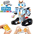 ritastar S.T.E.M Robot Building Kit APP Remote Control Building Bricks DIY Smart RC Tracked Robotics Engineering Educational Learning Toy for Boys Girls Kids to Build Intelligent Gift (351pcs Blocks)