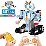ritastar S.T.E.M Robot Building Kit APP Remote Control Building Bricks DIY Smart RC Tracked Robotics Engineering Educational Learning Toy for Boys Girls Kids to Build Intelligent Gift (351pcs Blocks)