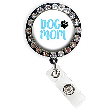 Bling badge reel Cute retractable name badge holder Teacher ID badge clip Puppy dog badge reel