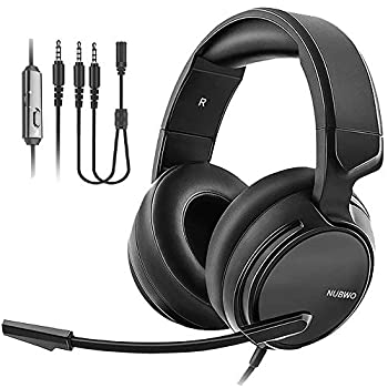NUBWO N12 Gaming Headset & Xbox one Headset & PS4 Headset,3.5mm Surround Stereo Gaming Headphones with Mic Soft Memory Earmuffs for PC,Laptop PS3 Video Game with Flexible Microphone Volume Control