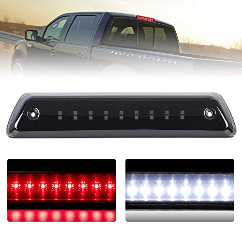 Third Brake Light/Reverse Light Smoked For 2009-2014 Ford F150 Power Saving Waterproof, 1 Year Warranty