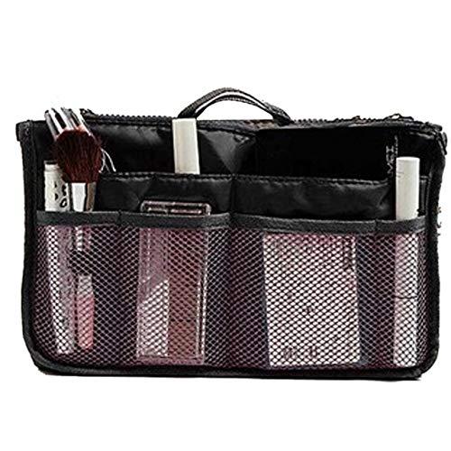 Sac cosmétique Sac de Maquillage Organisateur Voyage Portable Pouch beauté Fonctionnelle Sac de Toilette Maquillage Maquillage Organisateurs Téléphone Sac Case (Color : Black)