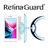 RetinaGuard 紫外線対策 ブルーライト防止スクリーンプロテクター iPhone8用 - SGS&Intertek試験済み - 過剰な有害なブルーライトを遮断 目の疲れと目の疲れを軽減