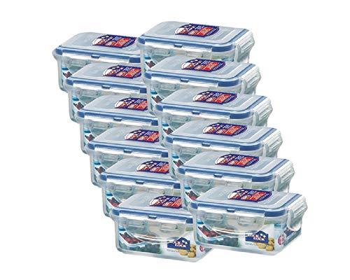 ZIP Premium 180 ml Frischhaltedose | Frischhaltebox | Multifunktionsbox | Frischhaltebehälter | Vorratsdose | Kleinteiledose Lock&Lock HPL805-12er Set