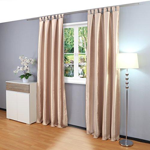 cortinas opacas cortas beige