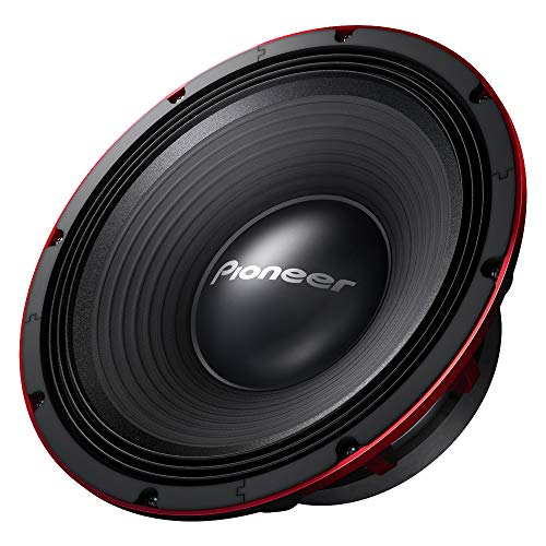 Pioneer TSW1200PRO 12-Inch 1500W RIBEDGE/EAC Subwoofer, Black/RED