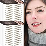 Aresvns Ginger Eyebrow Tattoos Stickers 88 Pairs!4D Eyebrows Tattoo for Women,Popular Imitation Eyebrow Stickers,Realistic Eyebrow Transfers(Jan.26.2021 ver.)