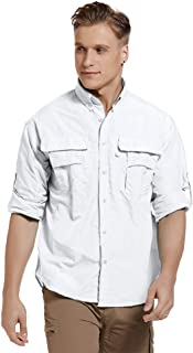 Men's UPF 50+ Sun Protection Outdoor Tactical Long Sleeve Shirt Lightweight Quick-Dry Sports Cooling Fishing Shirts #5052