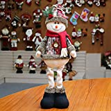 Ohhome Decoración navideña Muñecas Hogar Papá Noel Elk Muñeco de Nieve Decoración de Ventana Suministros de Navdidad