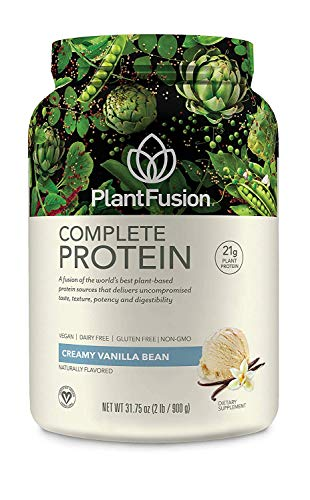 PlantFusion Complete Plant Based Pea Protein Powder, Non-GMO, Vegan, Dairy Free, Gluten Free, Soy...