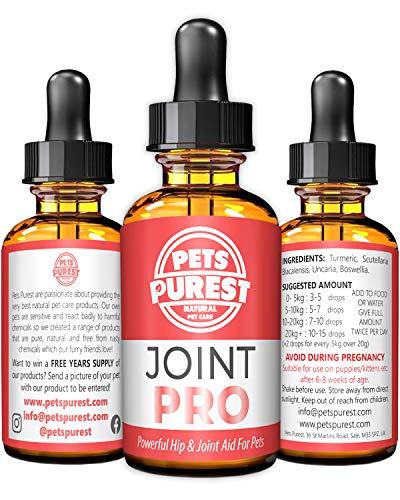 Pets Purest Potente suplemento para el Cuidado de Las Caderas y Las articulaciones (admite articulaciones rígidas, Mejora la Movilidad y repara los daños para Perros, Gatos y Mascotas)