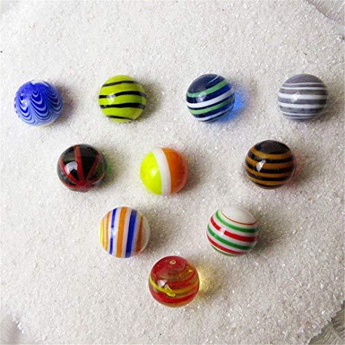 COOLISH 10Pcs / Lot 16Mm Kinder Glasmarmor Vase Dekoration Ball Einzigartige handgemachte Glaskugel Marmor Ornament Blue