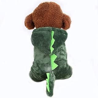 Adarl Winter Warm Pet Dress Up Costumes Dog Jumpsuit Coat Colothes Soft Fleece Hoodies Apparel for Puppy Dog Cat