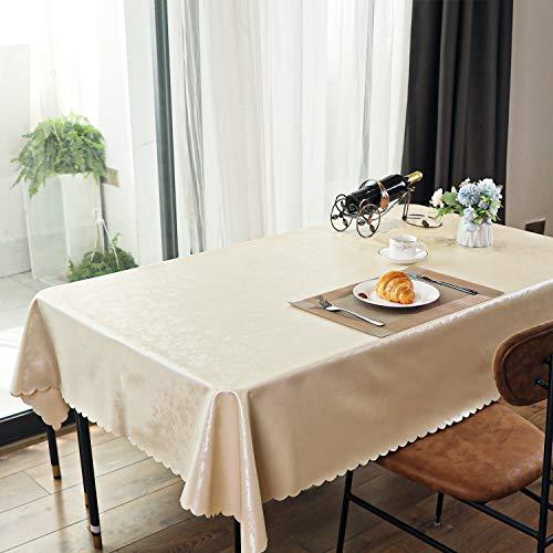 DECPRUS Rechteckige Vinyl-Tischdecke Wasserfeste, öldichte, rutschfeste, auslaufsichere, haltbare Tischdecke Waschbare, staubdichte Tischdecke für die Küchenparty