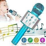 NEXGADGET Microfono Wireless Bluetooth Karaoke, 5 in 1 Portatile Radio FM Karaoke Mic Spea...