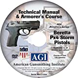 American Gunsmithing Institute Armorer's Course Video on DVD for Beretta PX4 Storm Pistol - Technical Instructions for Disassembly, Cleaning, Reassembly and More