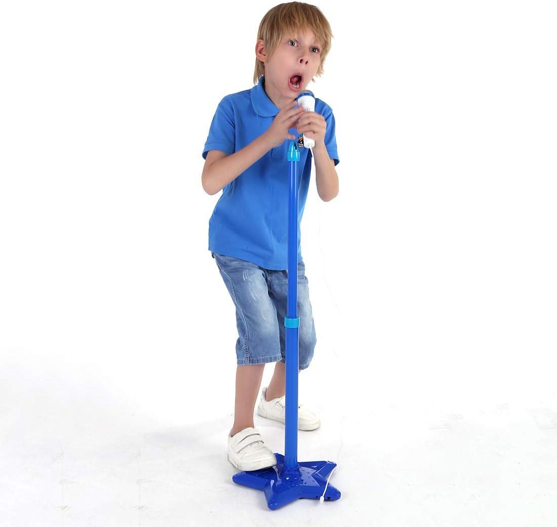 Portable Microphone Musical Toys with Stand for Children Karaoke Machine Set WEEGO Kids Karaoke Machine