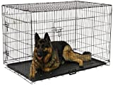 Go Pet Club 48-Inch Two Door Folding Metal Cage with Divider