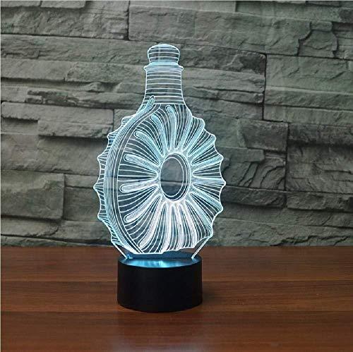 Whiskey Bottle Touch Tischlampe 7 Farben Schreibtischlampe 3D Lampe Neuheit Led Nachtlichter Led Licht