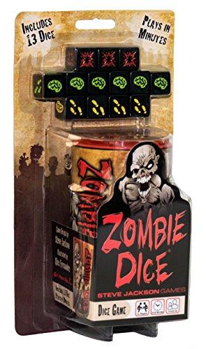 Steve Jackson EDGSJ02 Dados Zombies Juego de mesa, Versión en inglés