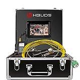 """Telecamera per Fognatura 30M, Telecamera per Ispezione Tubi con DVR Endoscopio Industriale di Ispezione della Conduttura Impermeabile IP68 con 1000TVL CCD di Sony e 7"""" LCD (Scheda SD da 8GB Inclusa)"""