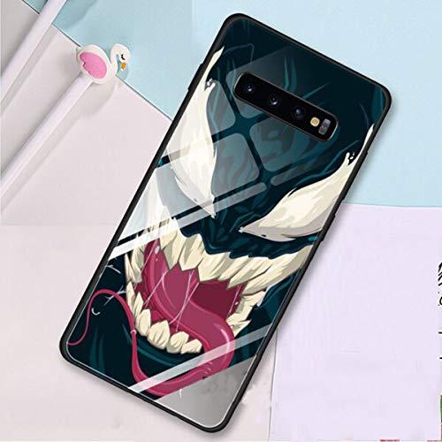 Luxury Tempered Glass Cases for Samsung Galaxy S10 S8 S9 Plus S10e Note 9 10 10Plus A50 A30 Venom Super Hero Stylist Back Case Cover (6, Samsung Note 10 Plus)