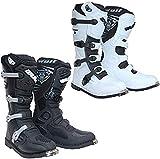 Wulfsport Trackstar Mx - Botas de motocross para motocicleta, quad, ATV, enduro y todoterreno, para deportes de carreras, color negro, blanco