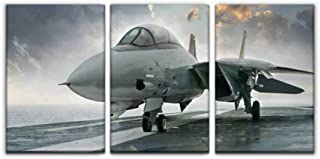 Gracelapin Modern Canvas Painting f 14 Tomcat Fighter Jet Military aircrafts and Pictures Wall Art Artwork Decor Printed Oil Painting Landscape Home Office Bedroom Framed Decor (16