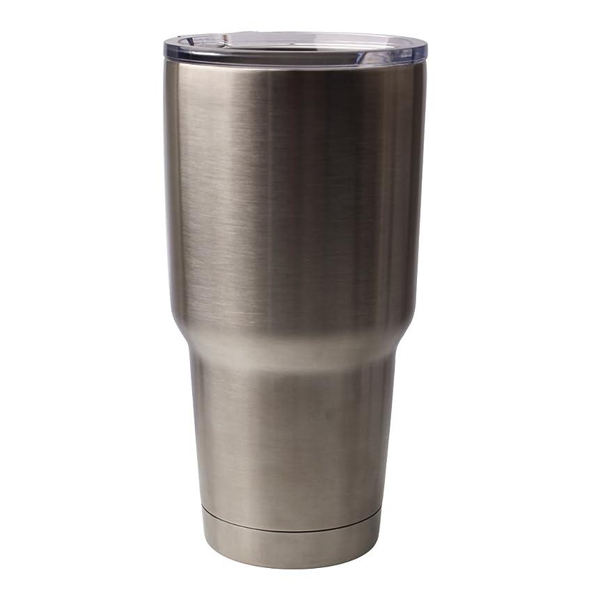 賛辞モットー新しい意味RAPHYCOOL真空断熱タンブラー ビール 冷やす 大容量 タンブラー ステンレス フタ付き キャンプ用品 (Men's、Lady's) (900ml)