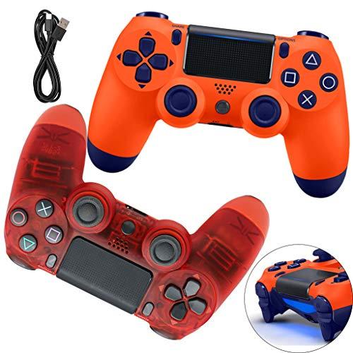 Manette PS4, Manette De Jeu sans Fil, Controller Dualshock avec Fonction Audio et Barre Lumineuse LED, Câble USB, Convient pour PS4/Pro/Slim,E